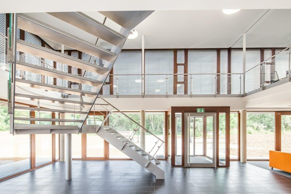 moderne Glasfassade toolbox Software Eschweiler Automatik-Schiebetür Bröcking Fenster