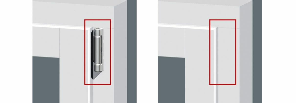 angefräste Glasleisten sorgen für einen nahtlosen Übergang vom Fensterflügel zur Scheibe