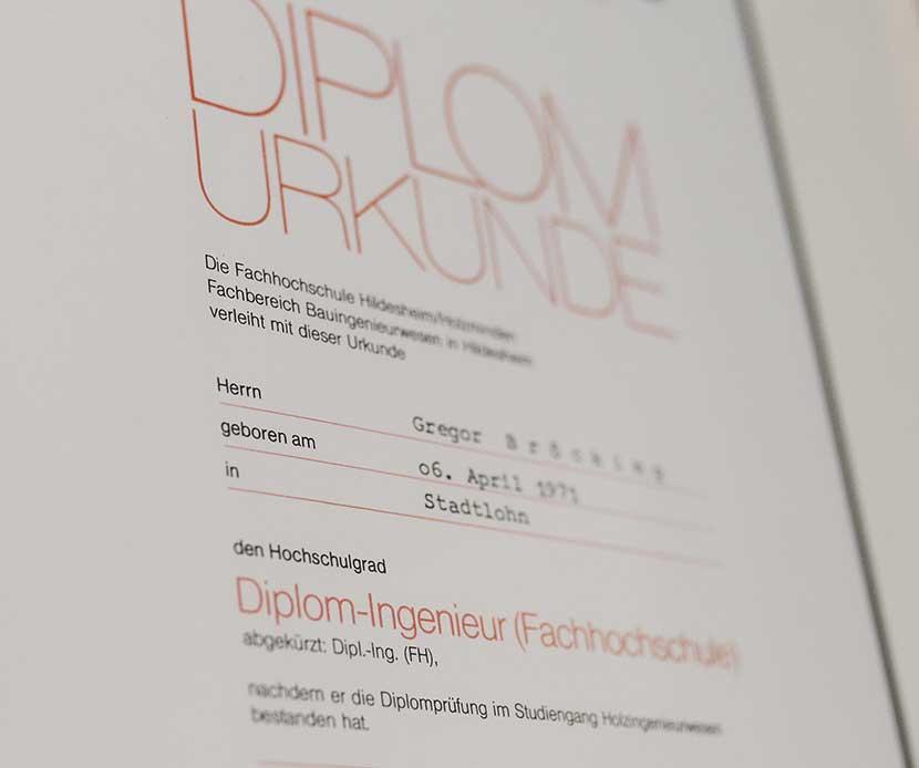 1996-Starke-Wurzeln-Firmengeschichte-Bröcking-Fenster-Gregor-Bröcking-Diplomurkunde