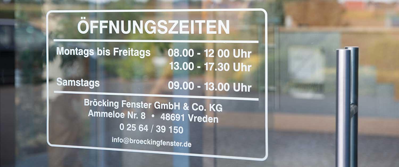 Holzfenster ausstellung Bröcking fenster in NRW unsere Öffnungszeiten
