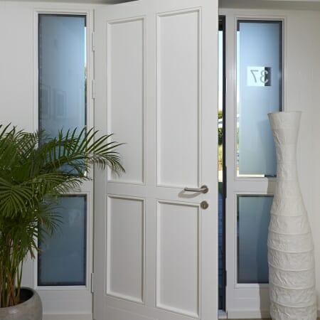 Haustür innen weiß außen farbig