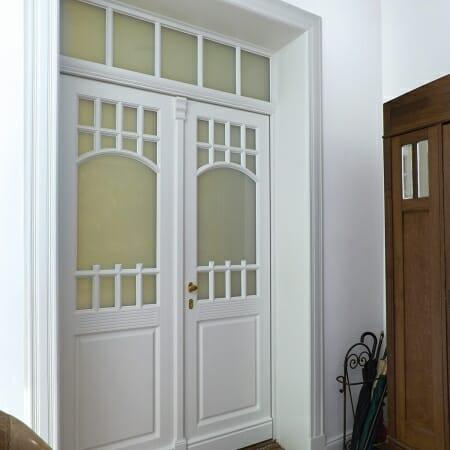 Holz Haustür innen